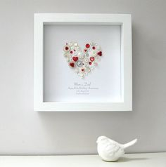 personalised ruby anniversary heart picture by sweet dimple   notonthehighstreet.com