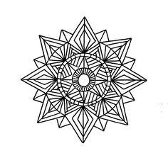 geometric mandalas to color | Geometric mandala coloring pages