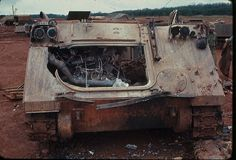 M113 APC destroyed by RPG in the Vietnam War, WOW...