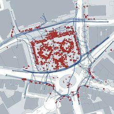 Pedestrian movement map, London