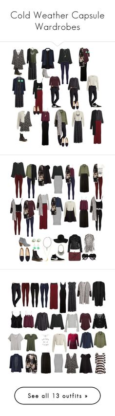 Cold Weather Capsule Wardrobes by mixedgirlmusings on Polyvore featuring MANGO, Madewell, H&M, Athleta, Enza Costa, Dr. Martens, Free People, NIKE, American Vintage and 2NDDAY