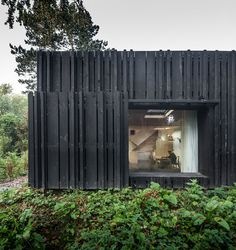 vertical cladding garden office black - Google Search