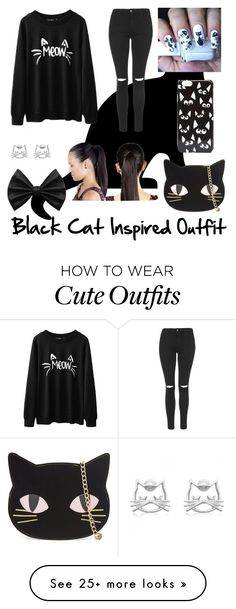 """Black Cat Inspired Outfit"" by beautybygirlsxoxo on Polyvore featuring Topshop, Skinnydip and ASOS"