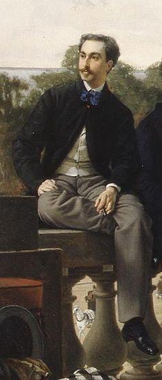 File:James Tissot - The Circle of the Rue Royale (detail) - Comte Alfred de La Tour-Maubourg.jpg