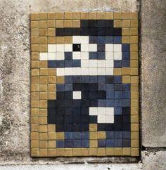 "d7606: ""Work by @invaderwashere (Mcr_17) 30 points  Manchester UK . . #invader #spaceinvader #invaderwashere #manchester #manchesterstreetart #streetartmanchester #manchestergraffiti #streetart #graffiti #art #artwork #3dart #rsa_graffiti #royalsnappingartists #tv_streetart"""