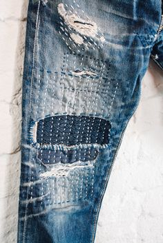 Shockoe Atelier Slim Originals with sashiko repair work