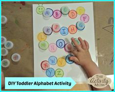 This free toddler alphabet activity is a simply DIY alphabet game that your little one will love!
