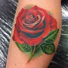 Rose tattoo by Michelle Maddison
