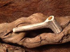 Small deer antler pipe