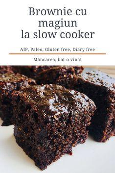 Brownie cu magiun la slow cooker (AIP) - Mâncarea, bat-o vina Aip Diet, Multicooker, Slow Cooker, Gluten, Sweets, Desserts, Food, Tailgate Desserts, Deserts