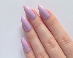 Lilac Stiletto nails, Nail designs, Nail art, Nails, Stiletto nails, Acrylic nails, Pointy nails, Fake nails