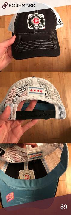 Never worn Chicago Fire Mesh Hat Adidas mesh snap back baseball hat with Chicago Fire logo. Never worn and in perfect condition! Adidas Accessories Hats