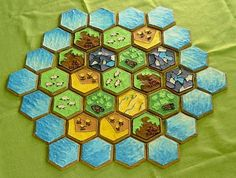 I've been meaning to try this with my hexagon cutter!  We love that game! Settlers of Catan Cookies
