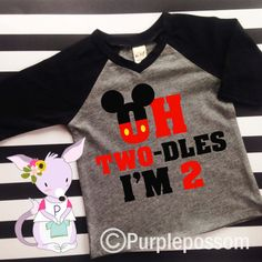 2nd Birthday Two Dles Shirt Oh Twodles Second Red Kids Raglan