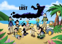 Disney's Lost by NuttyIsa; via Geek-Art