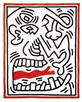 Keith Haring Untitled / Picasso Tongue 1985 GLOBE GALLERY
