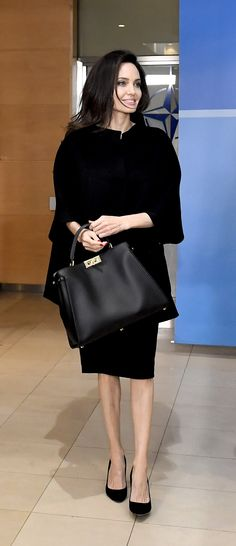 39f594694f83 Angelina Jolie with the Fendi Peekaboo  MeAndMyPeekaboo Peekaboo Fendi
