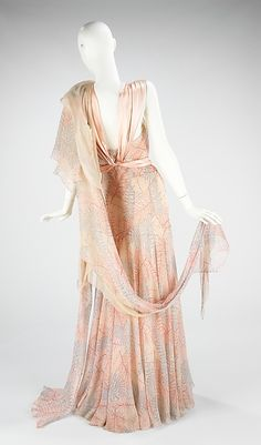 Madeleine Vionnet | Evening ensemble | French by Madeleine Vionnet (French, Chilleurs-aux-Bois 1876–1975 Paris)