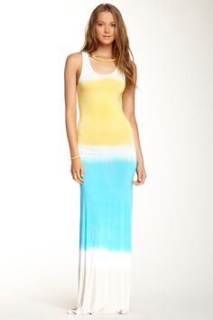 Tie-Dye Maxi Dress by Go Couture on @HauteLook