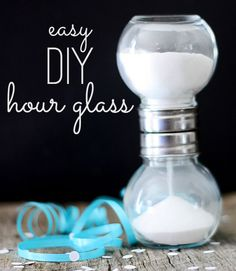 Make your own DIY hourglass for less than $5 in about 5 minutes.