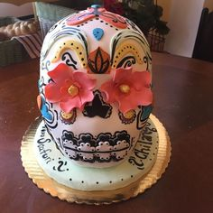 Sugar Skull Cake  Gift to our neighborhood friends at Chilango! (Amazing mexican food)