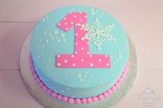 Winter ONEderland Birthday Cake by Beverly's Bakery