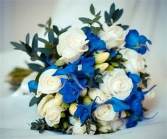 Delphiniums & Roses bouquet from The Flower Shop