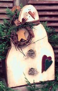 "primitive+wood+patterns | Primitive Wood 17"" Snowman Craft Pattern | eBay"