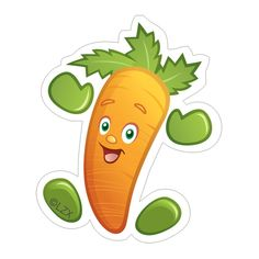 """Each sticker is 1½"""" in size, 30 sheets (10 designs), 300 stickers total Promote eating and enjoying fruits and vegetables with fun Garden Heroes® Stickers. These friendly character stickers help encourage healthy eating and make a great reward or incentive for kids and people of all ages. They are also a perfect Nutrition Education Reinforcement Item (NERI). Die-cut character designs: • Asparagus • Banana • Carrot • Corn • Grape • Grapefruit • Spinach • Sugar Snap Pea • Watermelon • Garden Heroe Sugar Snap Peas, Healthy Eating Habits, Nutrition Education, Is 11, Healthy Kids, Fruits And Vegetables, Amazing Gardens, Watermelon, Character Design"""