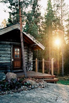 I like the rustic cabin with a tiny bit of modern touch