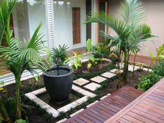 petit jardin d'eau de style zen