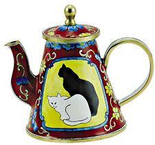 KELVIN CHEN Enamel Mini Teapot- Cat Black & White