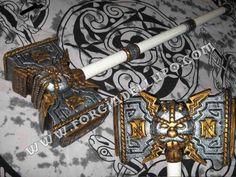 Martello nanico #lps #larp #cosplay #grv #forgiadellupo #brenin #latex #weapon #lattice #armi #fantasy #hammer #dwarf