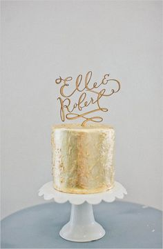 Gold Cake Toppers | Fly Away Bride