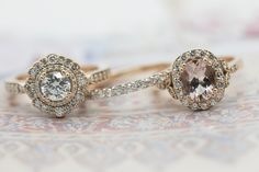 Image copyrighted. Marion Rehwinkel Jewellery.  Rose and blush gold engagement ring.