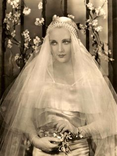 27 Glamorous Photos That Show Hollywood Beauties in Wedding Dresses in the 1930s ~ vintage everyday