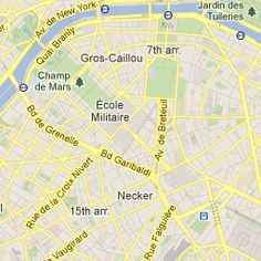 Paris Map with top attractions