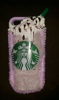 This took alot of hard work . Very cute Custom made Starbucks Phone Case ! Available on Ebay Mocha latte anyone?