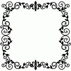Silhouette Design Store - Search Designs : WROUGHT IRON VINE INITIAL
