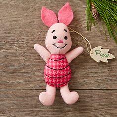 Piglet Disney Parks Storybook Plush Ornament