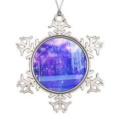 Serenity Garden Dreams Snowflake Pewter Christmas Ornament