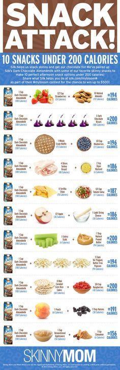 Snack time! Try these Silk Dark Chocolate Almondmilk pairings for 200 calorie snacks! via @Skinny Mom - Healthy Living for Women