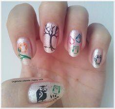Unghiutze colorate-Happy nails: Alphabet nail art challenge - Letter O