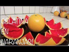 Receta de gelatinas en la cascara de la fruta. Receta de gelatinas artísticas y decoradas - YouTube