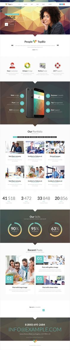 Topbiz is modern, clean and professionally crafted #WordPress Theme for portfolio, personal, #business or corporate website with 4 unique homepage layouts download now➩ https://themeforest.net/item/topbiz-responsive-corporate-wordpress-theme/17431325?ref=Datasata