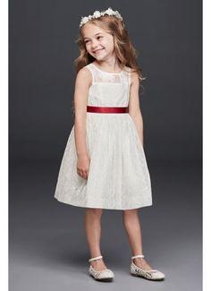 Sleeveless Knee Length Flower Girl Dress OP226