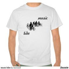music bike t-shirt