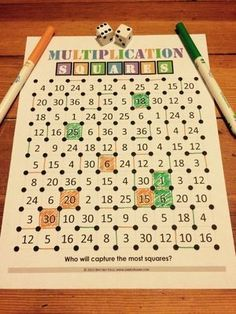"Want a fun, no-prep multiplication facts game to use in your math centers tomorrow? Read about how we've ""mathified"" the squares game and get your FREE printable copy."