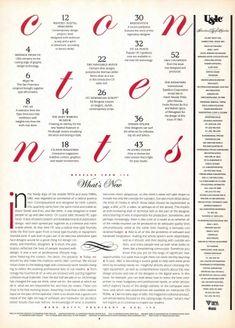 TypeTalk - U&lc Magazine Retrospective: Reinventing Tables of Contents