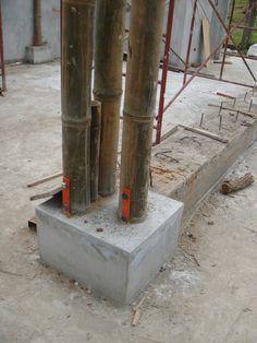 Bilderesultat for bamboo concrete columns